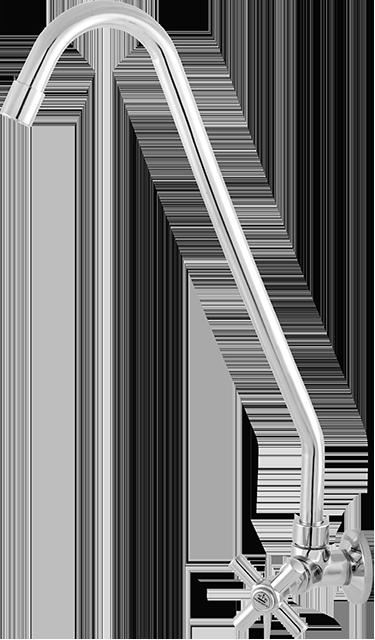 2062 - C31 TORNEIRA COZINHA GIRATÓRIA CANO LONGO PAREDE C/ AREJADOR FIXO